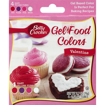Betty Crocker Gel Food Colors, Valentine