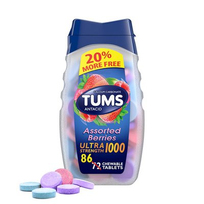 Tums Antacid Chewable Ultra Strength Tablets, Antacid Chewable Ultra Strength Tablets