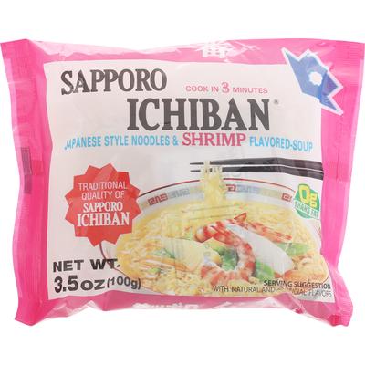 Sapporo Japanese Style Noodles & Shrimp Flavored-Soup