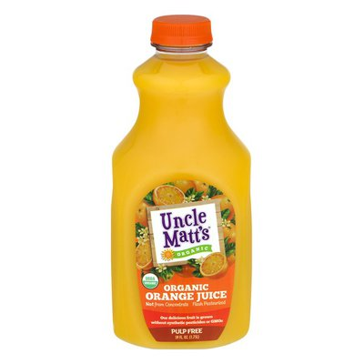 Uncle Matt's Organic Juice, Organic, Orange, Pulp Free