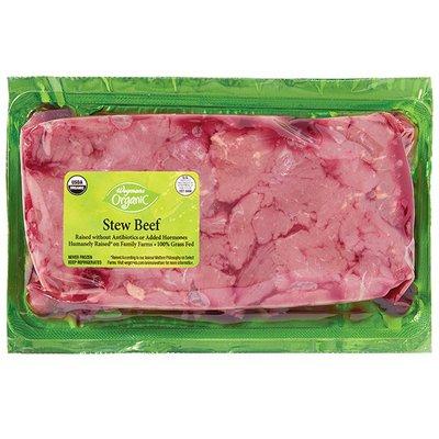 Wegmans Organic Food You Feel Good About Beef Stew Beef, Grass Fed