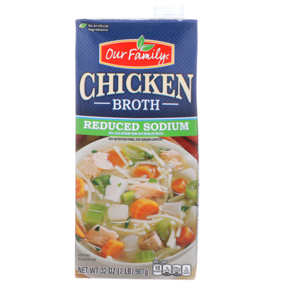 Our Family Reduced Sodium Chicken Broth