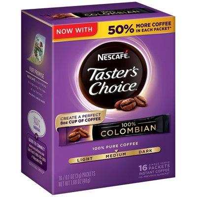 Nescafe Taster's Choice 100% Colombian Medium Roast Instant Coffee