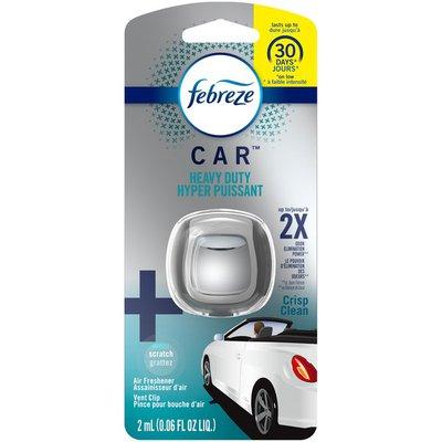 Febreze Odor-Eliminating, Heavy Duty Air Freshener Vent Clip, Crisp Clean