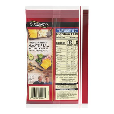 Sargento® Sharp Natural Cheddar Cheese Ultra Thin® Slices
