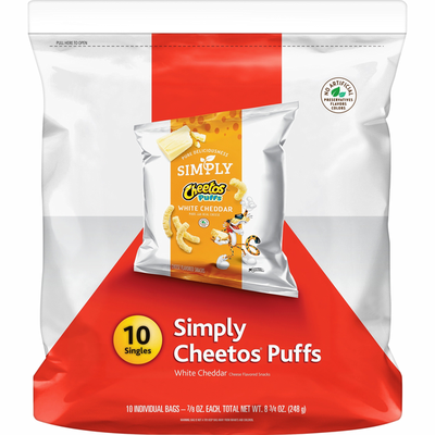 CHEETOS Simply Puffs White Cheddar Cheese Flavored Snacks