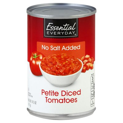 Essential Everyday Tomatoes, No Salt Added, Petite, Diced