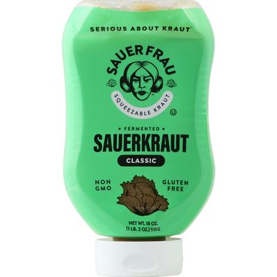 Sauer Frau Sauerkraut, Fermented, Classic, Squeezable