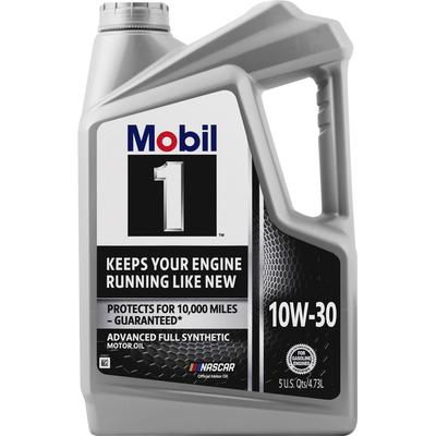 Mobil Motor Oil, Advanced Full Synthetic, 10W-30