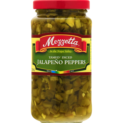 Mezzetta Jalapeno Peppers, Tamed, Diced