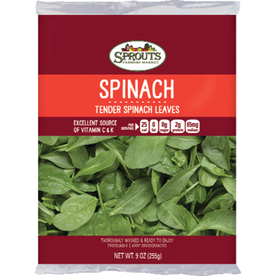 Sprouts Tender Spinach Leaves