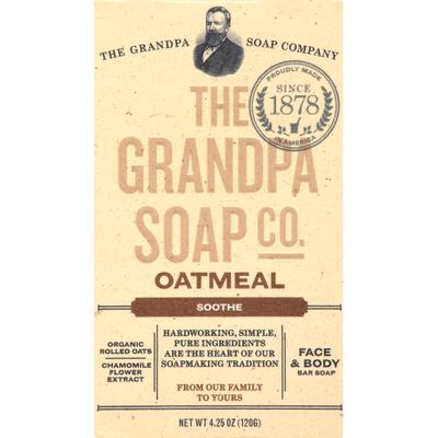 Grandpa's Bar Soap, Face & Body, Oatmeal, Soothe