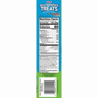 Kellogg's Rice Krispies Treats Marshmallow Snack Bars, Kids Snacks, School Lunch, M&M's Minis