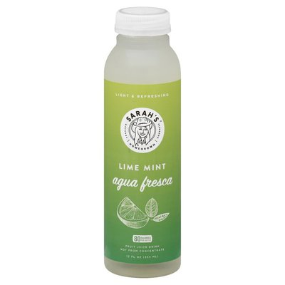 Sarahs Homegrown Fruit Juice Drink, Lime Mint, Aqua Fresca