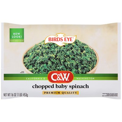 C&W Chopped Baby Spinach