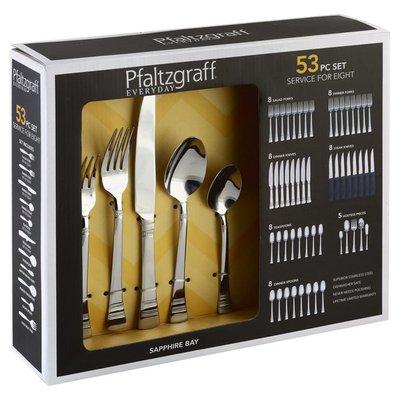 Pfaltzgraff Flatware, Sapphire Bay, 53 Piece