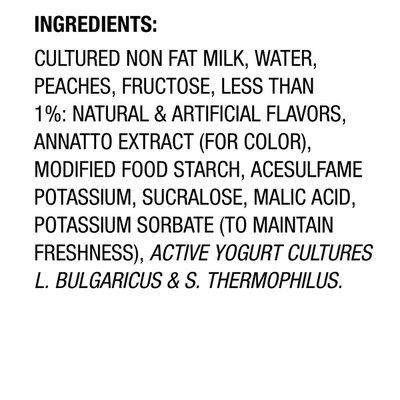 Light + Fit Peach Nonfat Yogurt
