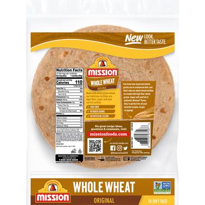 Mission Whole Wheat Soft Taco Flour Tortillas