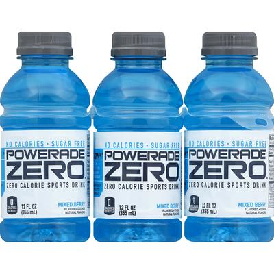 Powerade Sugar Mixed Berry, Ion4 Electrolyte Enhanced Fruit Flavored Sugar Calorie Sports Drink W/ Vitamins B3, B6, And B12, Sodium, Calcium, Potassium, Magnesium