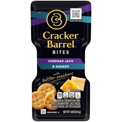 Cracker Barrel Cheddar Jack & Havarti Cheeses with Butter Crackers