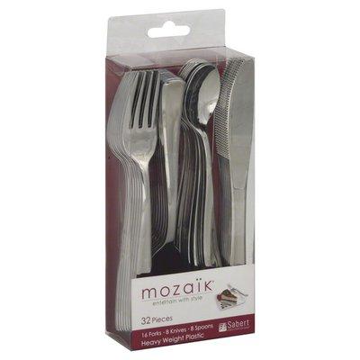 Mozaik Cutlery, Heavy Weight Plastic