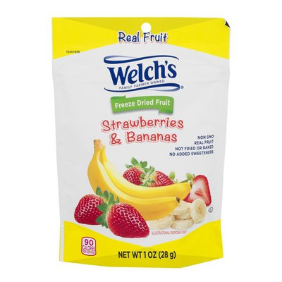 Welch's Freeze Dried Fruit Strawberries & Bananas