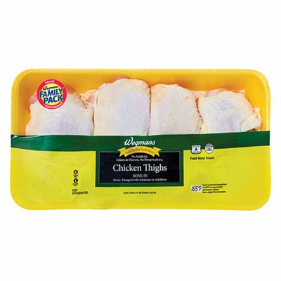 Wegmans Chicken Thighs, Bone-In, FAMILY PACK