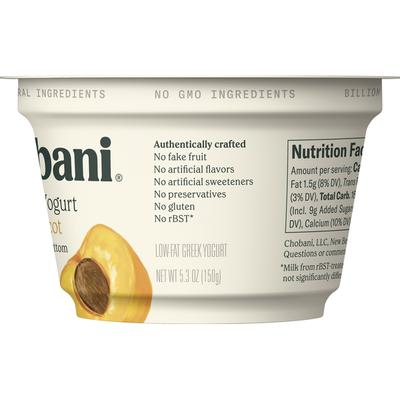 Chobani Greek Yogurt, Apricot on the Bottom