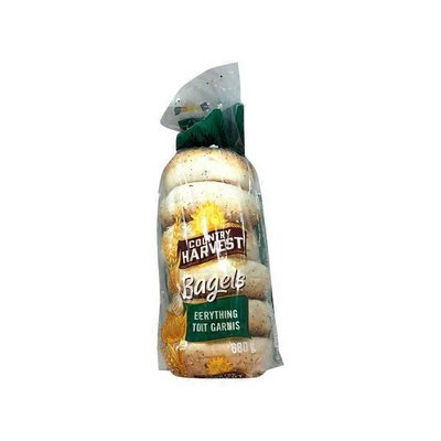 Country Harvest Bagels Everything With Garlic & Onion