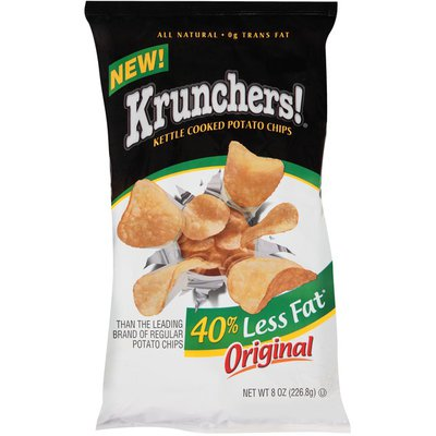 Krunchers! Kettle Cooked Less Fat Original Potato Chips