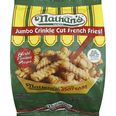 Nathan's Famous French Fries, Crinkle Cut, Jumbo
