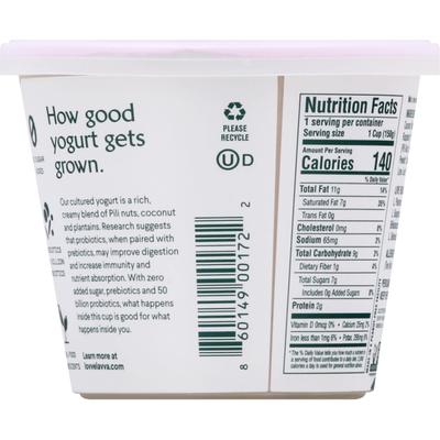 Lava Yogurt, Dairy Free, Raspberry, Pili Nut