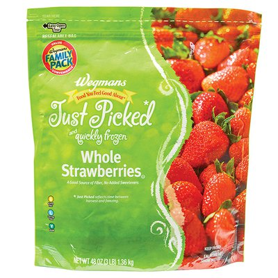 Wegmans Food You Feel Good About Just Picked and Quickly Frozen Whole Strawberries, FAMILY PACK