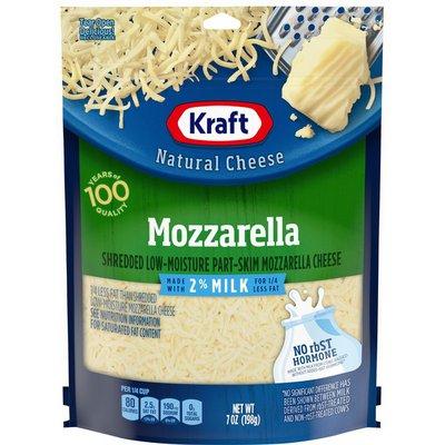 Kraft Mozzarella Shredded Cheese with 2% Milk
