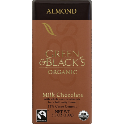 Green & Black's Bars Milk Chocolate, Almond