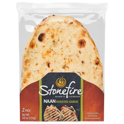 Stonefire Garlic Naan 2pk