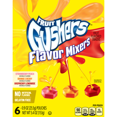Betty Crocker Fruit Snacks, Gushers Flavor Mixers, Variety Snac