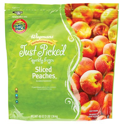 Wegmans Food You Feel Good About Just Picked and Quickly Frozen Sliced Peaches, FAMILY PACK