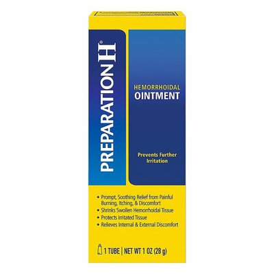 Preparation H Hemorrhoid Relief Ointment Tube, Hemorrhoid Relief Ointment Tube