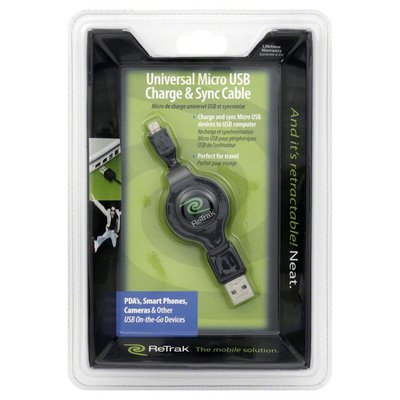 Re Trak USB Charge & Sync Cable, Universal Micro