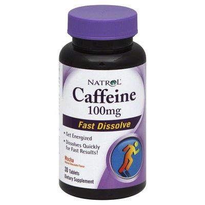 Natrol Caffeine, 100 mg, Fast Dissolve, Mocha