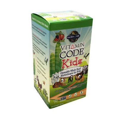 Garden of Life Vitamin Code Kids Chewable Whole Food Multivitamin For Kids Cherry Berry