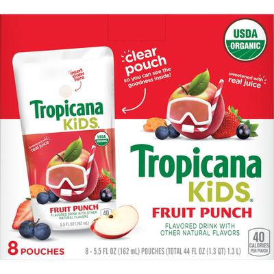 Tropicana Kids Frut Pnch 5.5FlOz8Pk