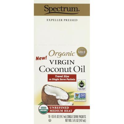Spectrum Coconut Oil, Organic, Virgin, Travel Size