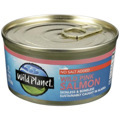 Wild Planet Salmon, No Salt Added, Wild Pink