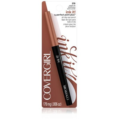 CoverGirl Perfect Point Get Inked! COVERGIRL Ink It! By Perfect Point Plus Waterproof Eyeliner, Copper Ink .006 oz (179 mg) Female Cosmetics