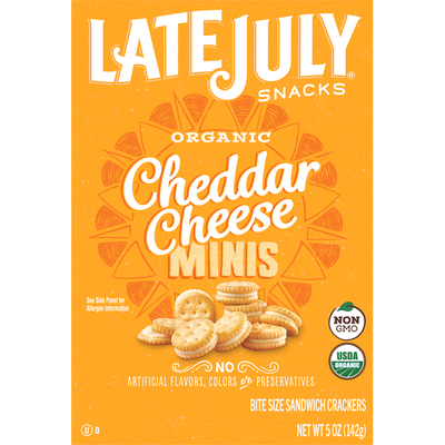 Late July Cheddar Cheese Sandwich Crackers