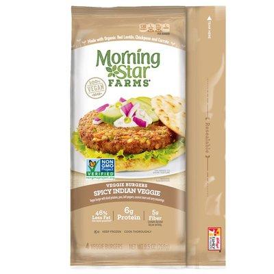 Morning Star Farms Veggie Burgers Spicy Indian Veggie