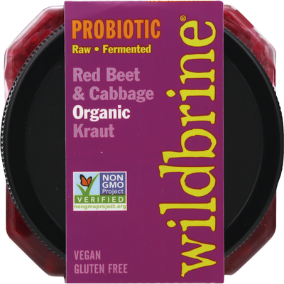Wildbrine Kraut, Organic, Red Beet & Cabbage, Probiotic