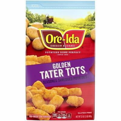 Ore-Ida Golden Tater Tots Seasoned Shredded Frozen Potatoes